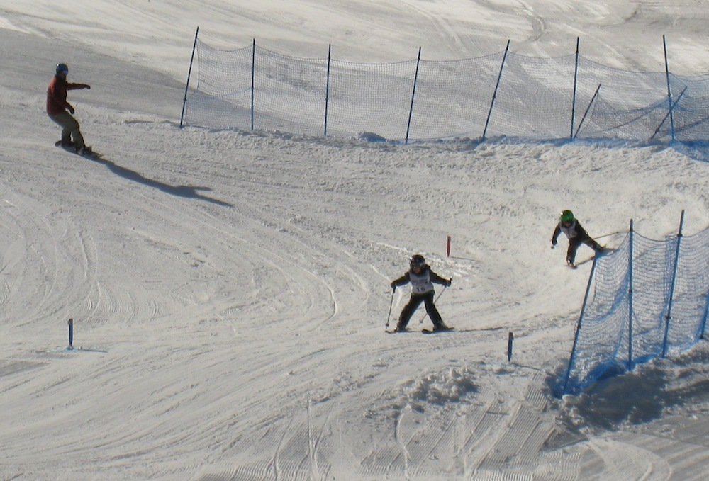 Fernie Alpine Resort. has a family-friendly skier cross course. Photo by Becky Lomax. - © Becky Lomax
