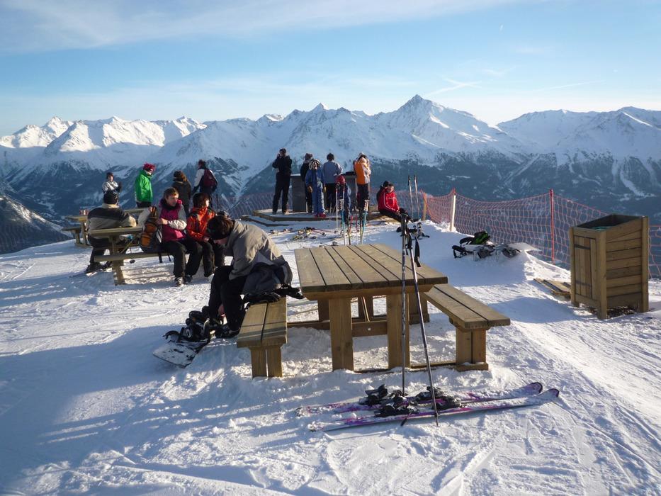 Pose détente sur le domaine skiable d'Aussois - © OT d'Aussois