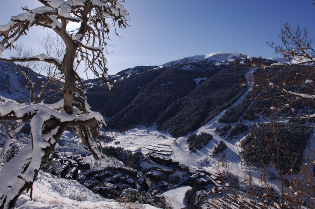 Mountain view of the Grandvalira Andorra