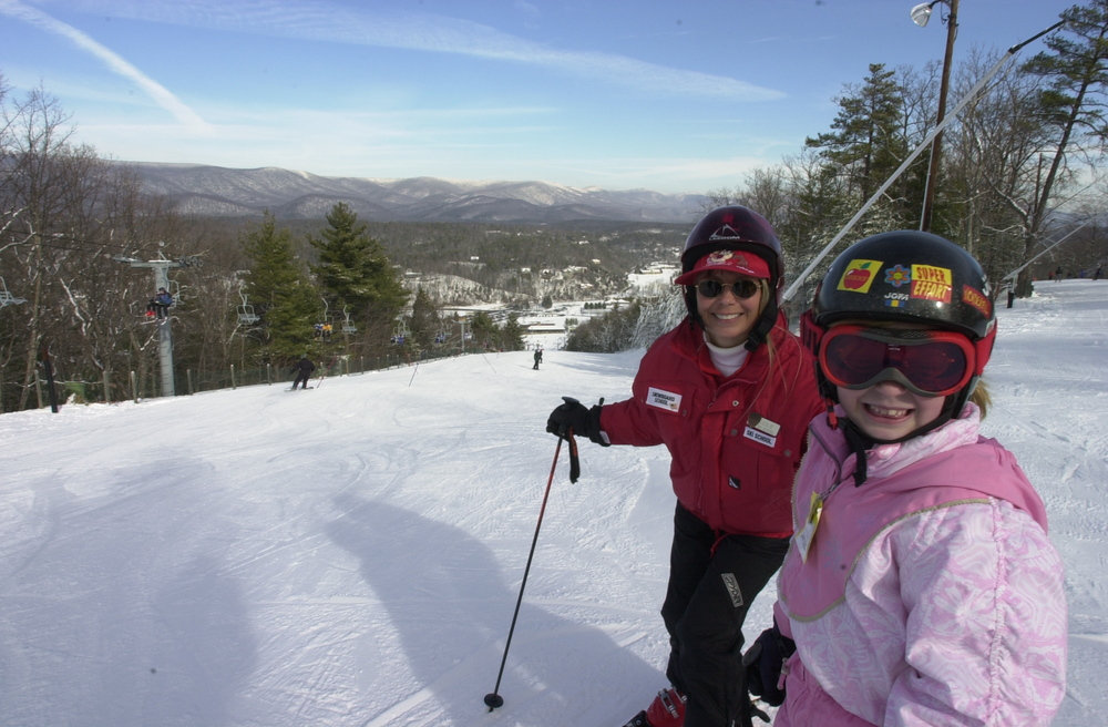 Learning to ski at Bryce Resort. Photo Courtesy of Bryce Resort.