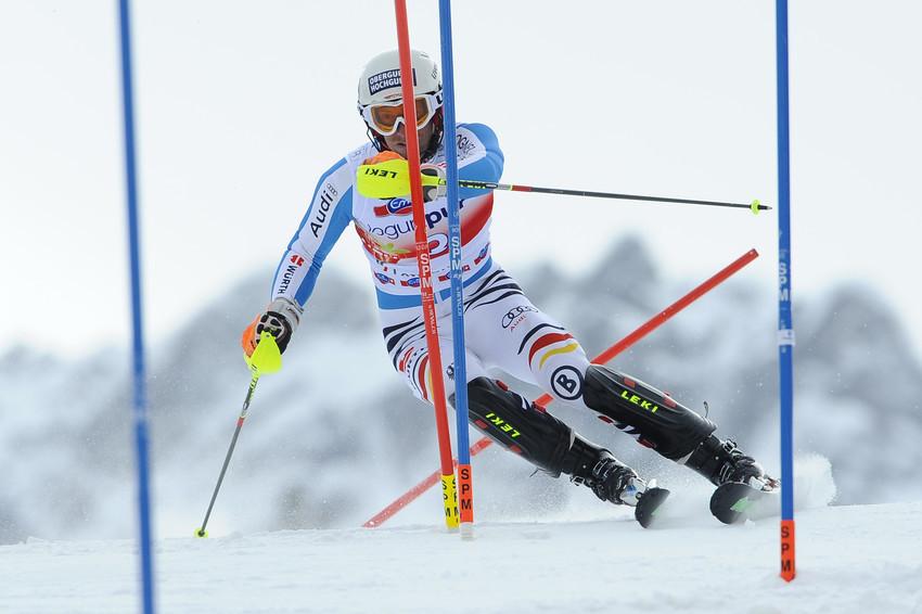 Fritz Dopfer verspielte beim Slalom-Finale als 13. einen möglichen Top-Platz - © Alain Grosclaude/AGENCE ZOOM