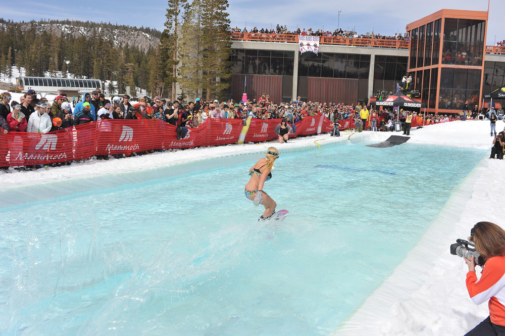 Pond skimming in the spring at Mammoth Mountain. - © Courtesy of Mammoth Mountain