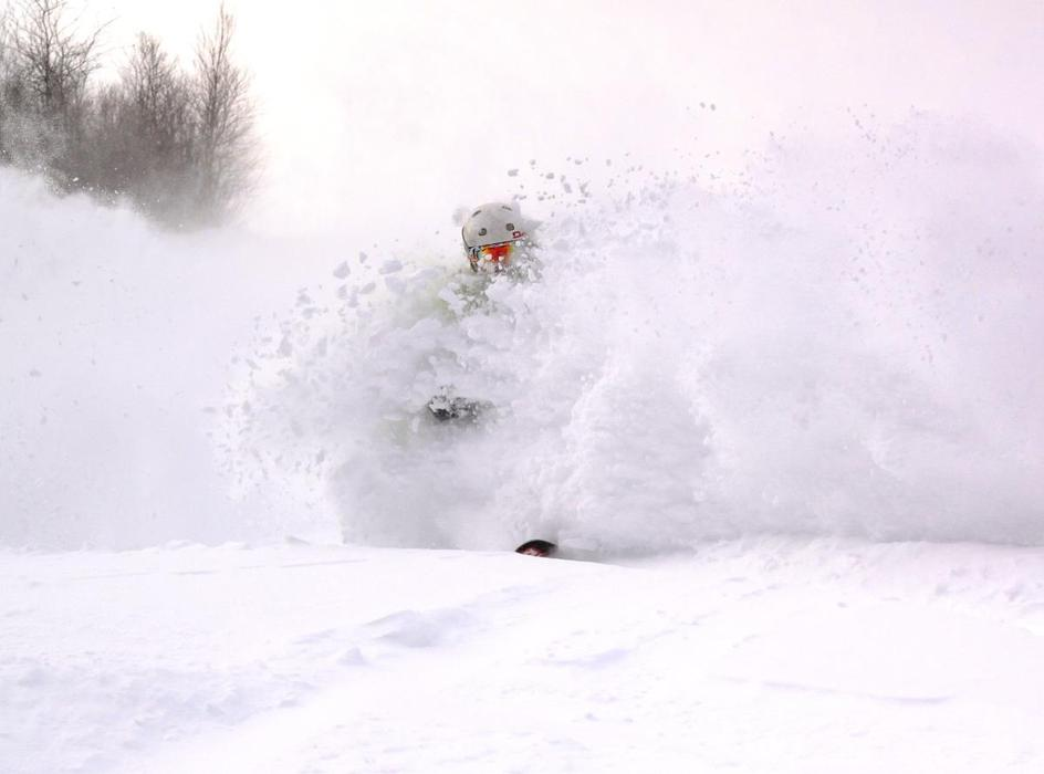 Blasting through the powder at Loon Mountain in New Hampshire. - © Loon Mountain