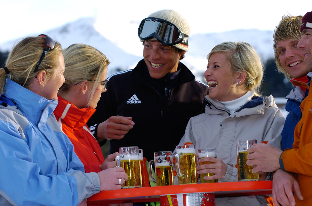 Austria has some of the cheapest beer prices on the slopes - © Albin Niederstrasser/Hinterglemm