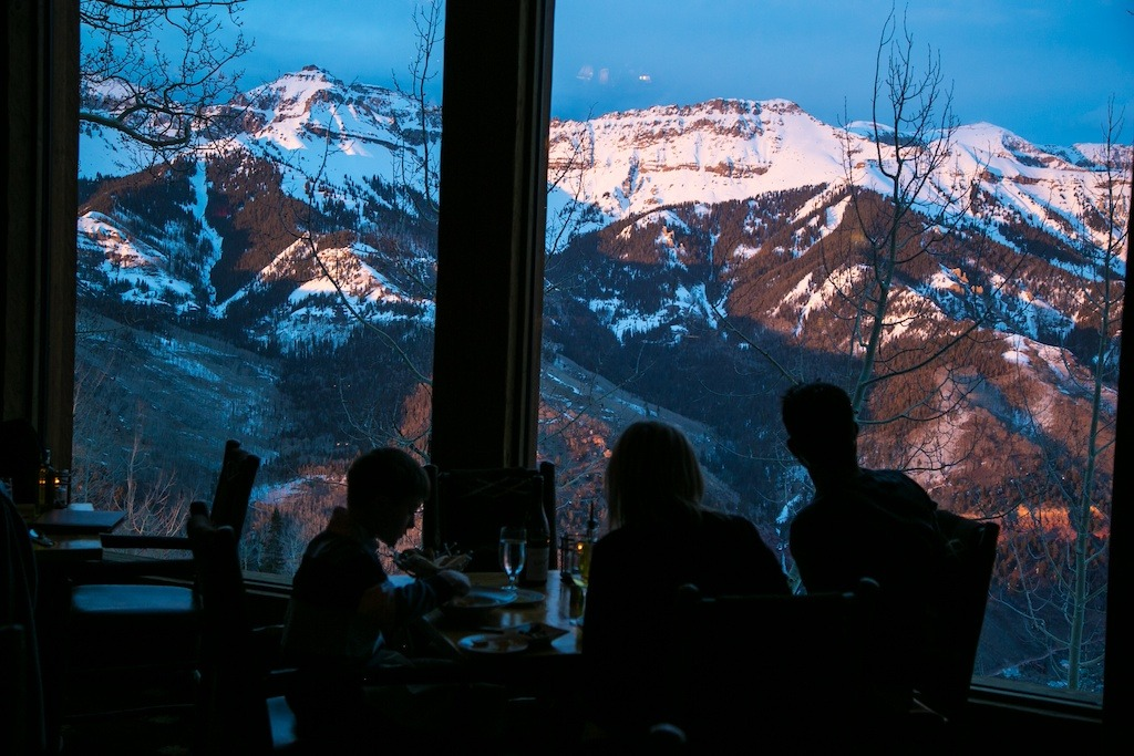 On mountain dining at Allred's provides views that can't be beat. - © Liam Doran