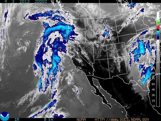 Storms set to impact the Western United States. - © NOAA.gov