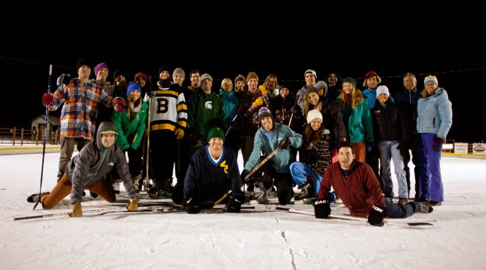 An annual hockey game with my friends over the holidays. - ©Shay Williams