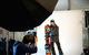 Behind the scenes in the press room with Sage Kotsenburg. Photo by Sasha Coben