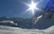 Ein Gletscher in Chamonix, Frankreich.