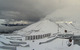 Snow fences at the top of Lake Louise help farm snow. Photo courtesy of Lake Louise webcam.