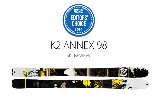 2014 Men's All-Mountain Editors' Choice Ski: K2 Annex 98