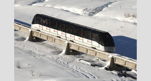 De mooiste skiliften: de ondergrondse Funival in Val d'Isère.  - © Andy Parant (andyparant.com)