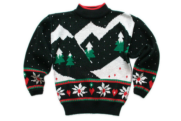 Vintage 80s ugly Christmas sweater  - © The Ugly Sweater Shop