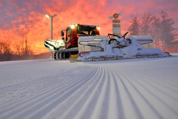 Derniers préparatifs avant l'ouverture des pistes de ski...