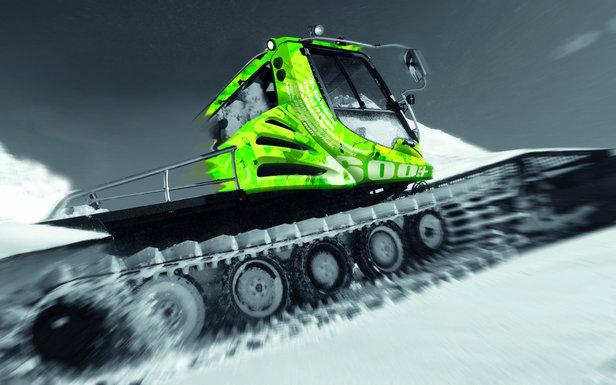 Le PistenBully 600 E+, première dameuse au monde fonctionnant selon la technologie hybride diesel-électrique