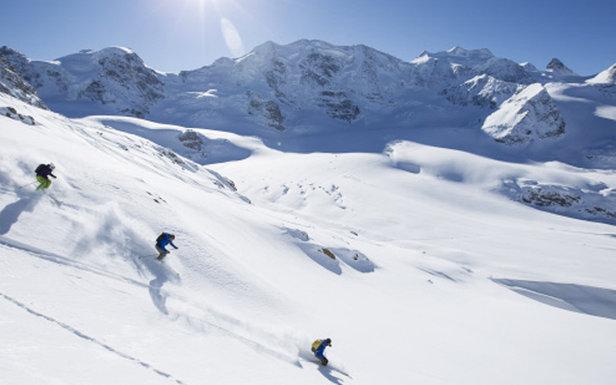 Skiing St. Moritz