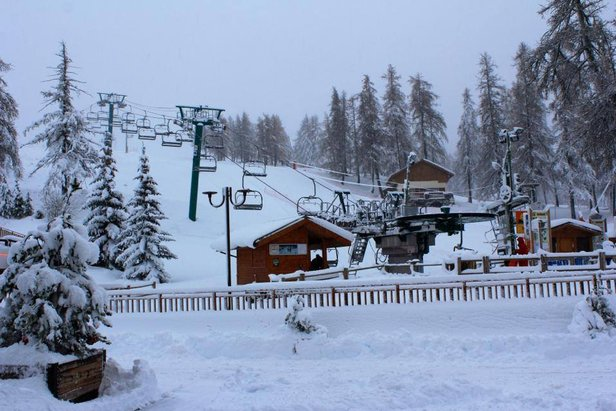 Valberg (Chute de neige 20 dec 2013)
