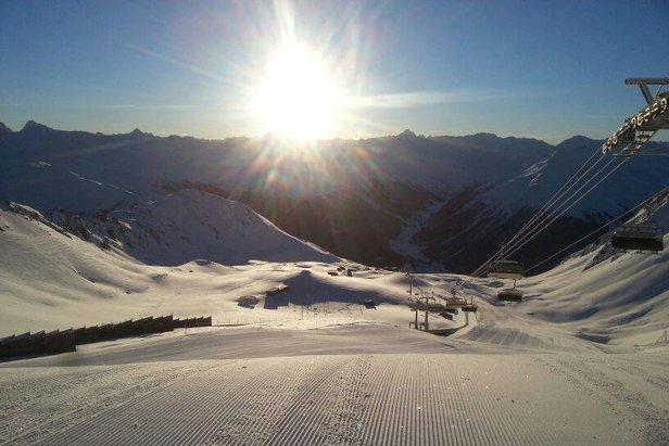 Pefektní podmínky v Davos Klosters, 22.1.2014