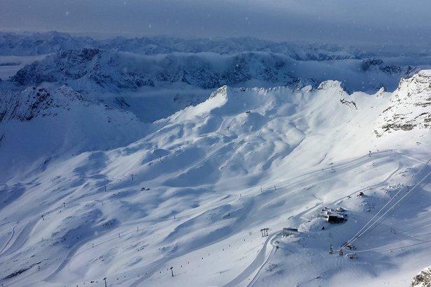 Blick von der Zugspitze am 20.02.2014