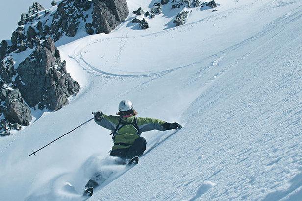 Freeskier exploring the challenging terrain of Craigieburn Valley, New Zealand - ©craigieburn.co.nz