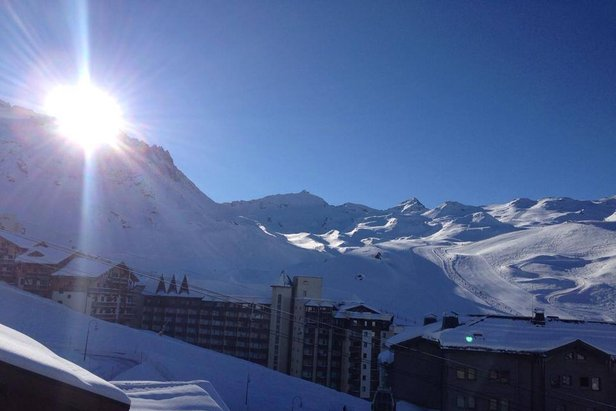 Fresh powder in Val Thorens today Feb. 27, 2014