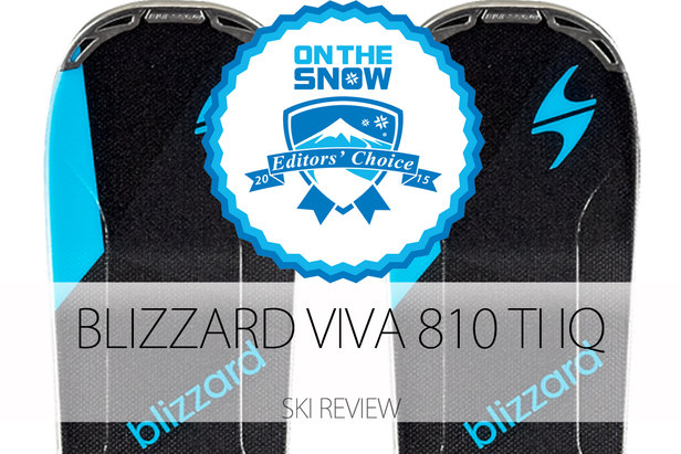 Blizzard Viva 810 TI IQ, a 2015 Editors' Choice Women's Frontside Ski