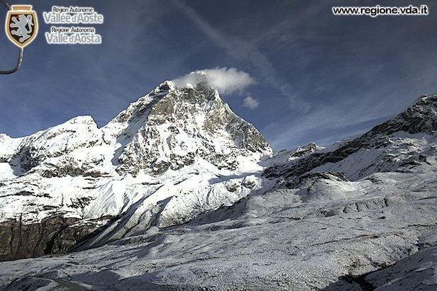 Cervinia, neve fresca sulle webcam - 15 Ottobre 2015