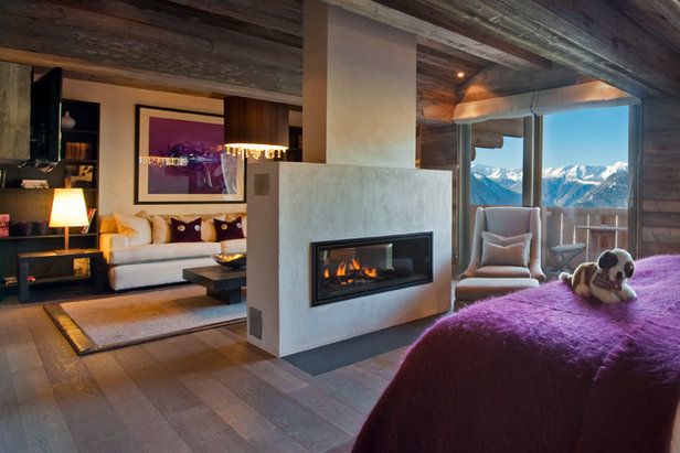 Master suite at The Lodge in Verbier