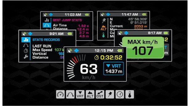 Recon Instrument,  display ottico che proietta delle immagini sulla vostra maschera: velocità, altitudine, GPS...