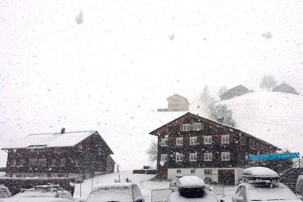 Weerbericht: veel sneeuw op komst.- ©Bergbahnen Diedamskopf