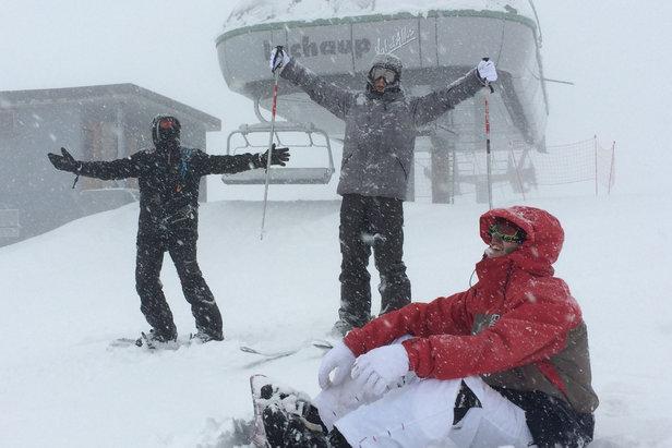 La neige signe son retour sur le domaine skiable du Val d'Allos...