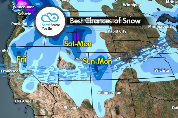 Snow Before You Go: Christmas Comes Early to Western Resorts- ©Meteorologist Chris Tomer