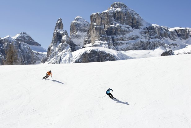 Beautiful scenery in Sella Ronda, Dolomiti SuperSki.
