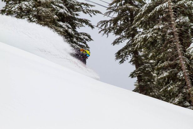 A weekend storm, Feb. 7-9, 2015, refreshed skiing at Kirkwood.