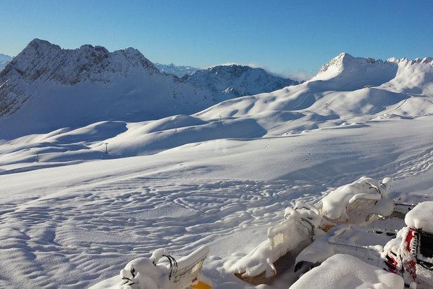 Herrliches Panorama auf der Zugspitze