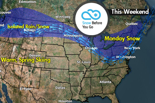 Snow Before You Go: Warm West, Cold Northeast