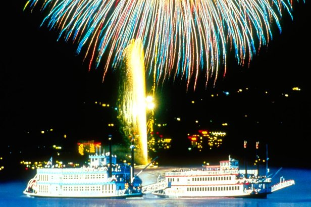 Climb aboard a Mississippi-style paddle wheeler and view South Shore Lake Tahoe's fireworks display from the water.