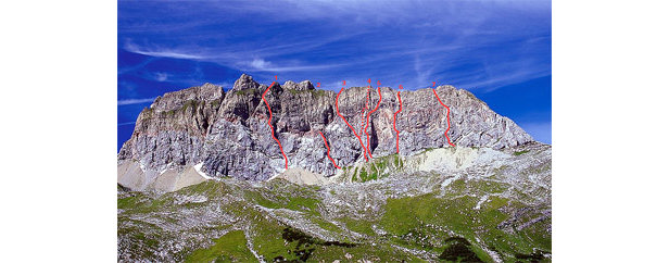 die rote wand 2704m am arlberg 39 via cosimo 39 bergleben. Black Bedroom Furniture Sets. Home Design Ideas
