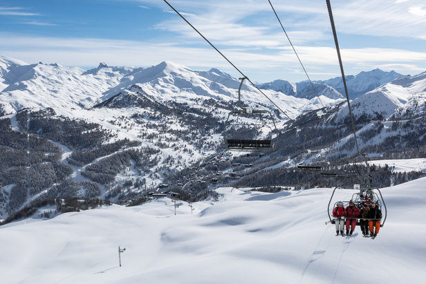En route pour les pistes de ski de Vars le Forêt Blanche