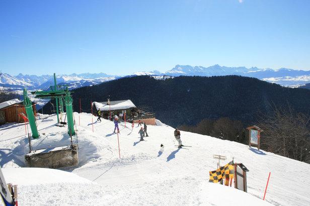 Au sommet du télésiège du Col de l'Arzelier