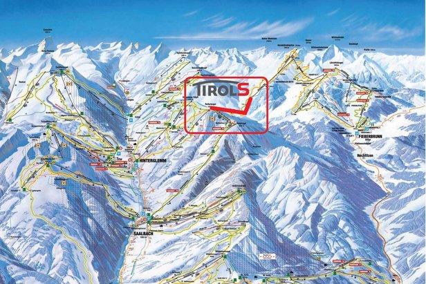 Kolej linowa TirolS łączy Saalbach, Hinterglemm i Leogang z Fieberbrunn tworząc największy połączony region narciarski w Austrii.  - © Skicircus