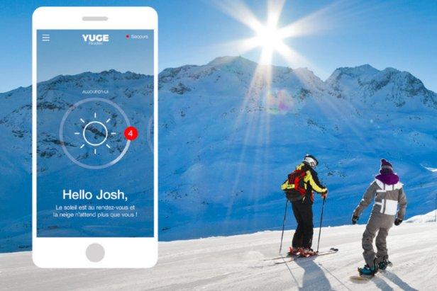 """""""Yuge"""" l'application de La Plagne – Paradiski, propose des fonctionnalités qui transforment sa sortie ski en expérience personnalisée"""