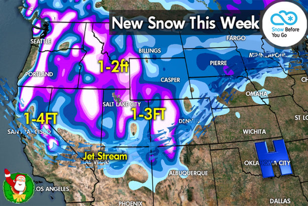 Snow Before You Go: Ho Ho Holy Crap, That's a Lot of Snow!- ©Meteorologist Chris Tomer