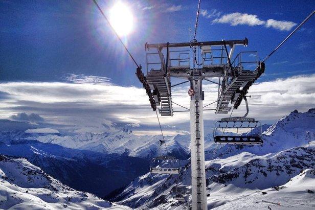 Sur le domaine skiable d'Orelle