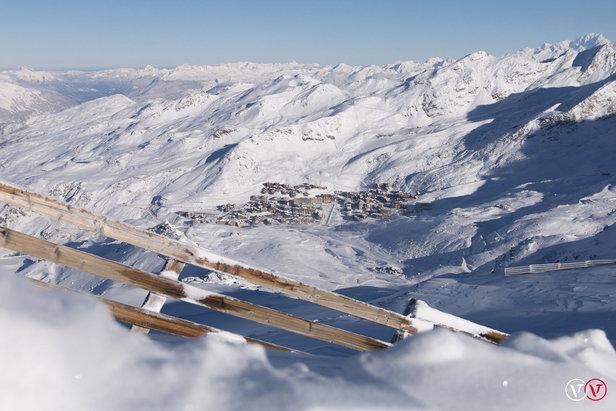 Derniers instants de quiétude sur le domaine de Val Thorens avant l'ouverture des pistes dès ce week-end...