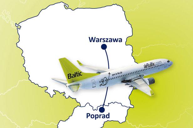 Czas przelotu z Warszawy do Popradu wynosić będzie maksymalnie 65 minut.  - © AirBaltic