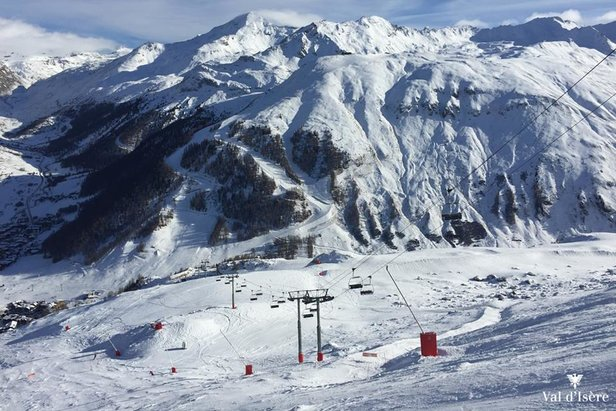 Val d'Isere (Dec. 16, 2015) has some of the best skiing conditions in Europe