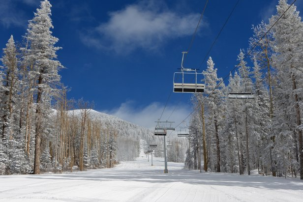 The new Humphreys lift at Arizona Snowbowl services intermediate runs.