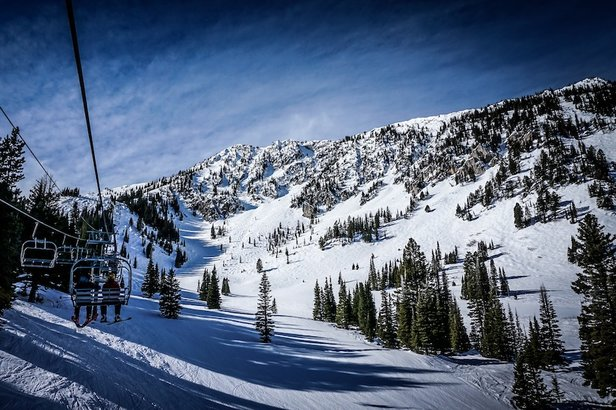 Bridger Bowl's ridge terrain looms in the distance. Got your transceiver?