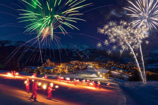 Praloup tout feu tout flamme à l'occasion de le tentative de record du monde de descente aux flambeaux